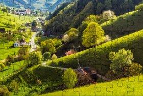 Puzzlepostkarte Schwarzwald