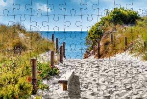 Puzzle-Postkarte Ostsee