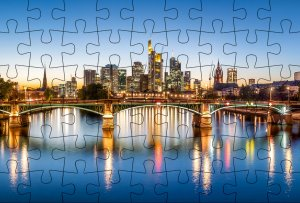 Puzzle-Postkarte Frankfurt am Main